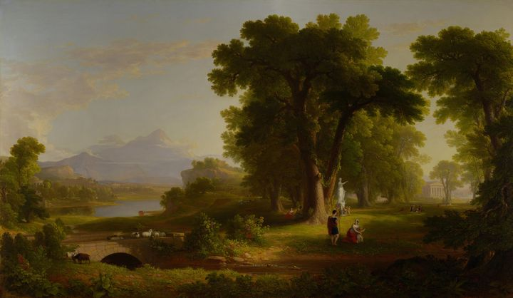 Asher Brown Durand~The Morning of Li - Old master image