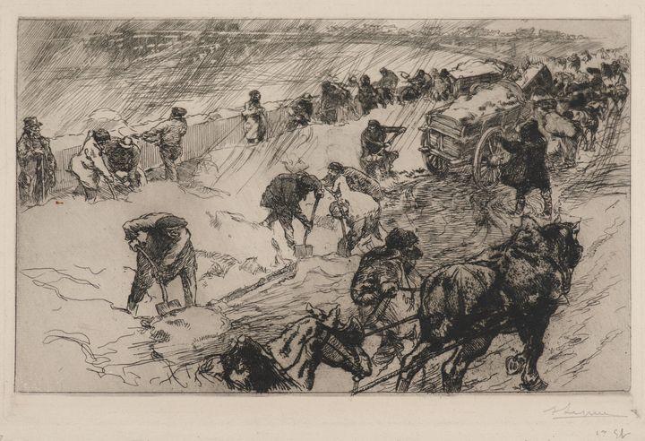 Auguste-Louis Lepère~Combat contre l - Old master image