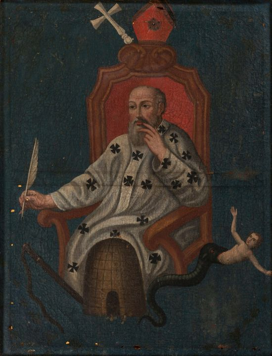 Anonymous~St. Ambrose - Old master image