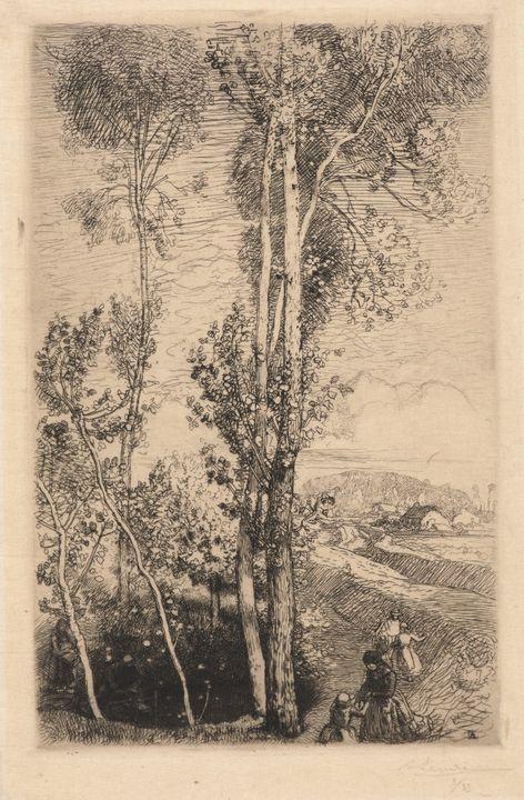 Auguste-Louis Lepère~La Petite Mare - Old master image