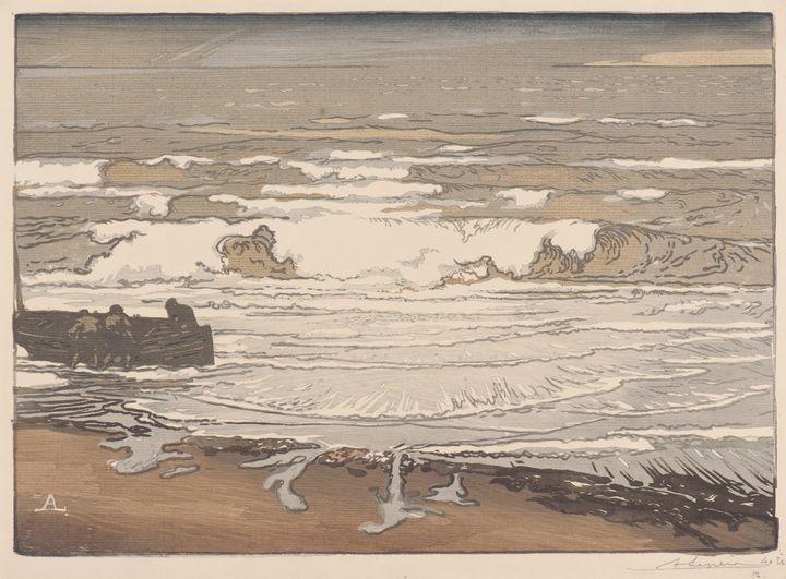 Auguste-Louis Lepère~Les Larmes defe - Old master image