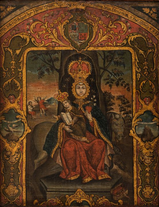 Anonymous~Virgin of Valvanera - Old master image