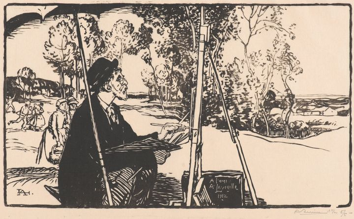 Auguste-Louis Lepère~The Landscape P - Old master image