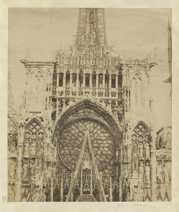 Auguste-Rosalie Bisson~Rouen Cathedr - Old master image