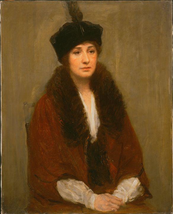 Augustus Vincent Tack~Elizabeth Huds - Old master image