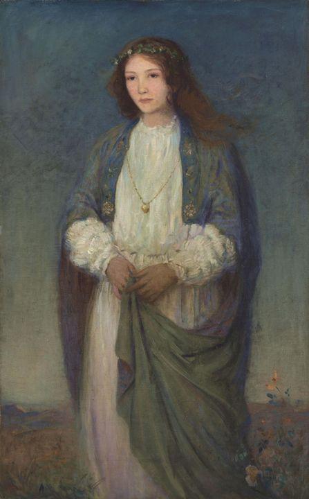 Augustus Vincent Tack~The Listener - Old master image