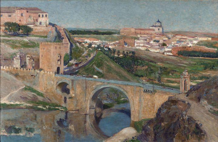 Aureliano de Beruete~View of Toledo - Old master image