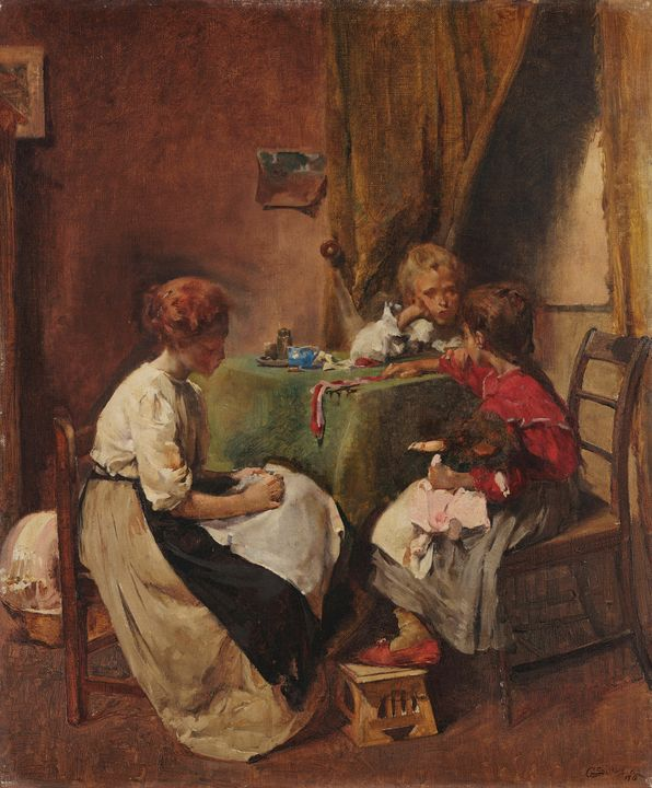 Aurélia de Sousa~Family scene - Old master image