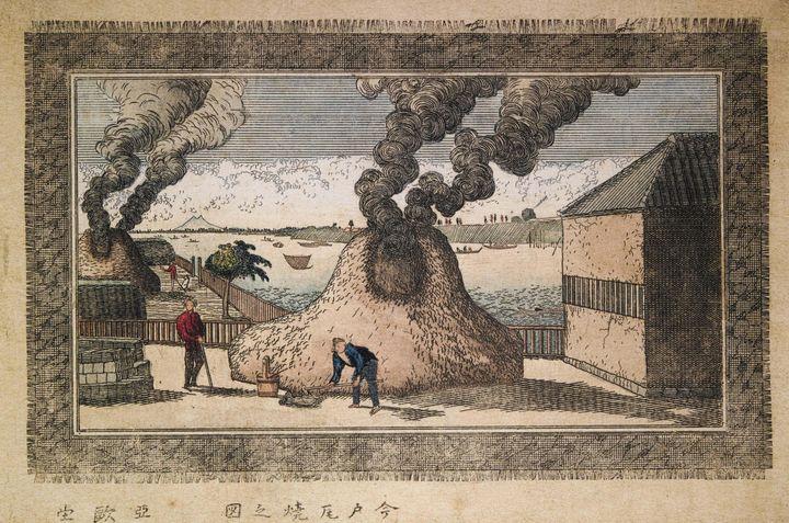 Aōdō Denzen~Sumida River behind the - Old master image