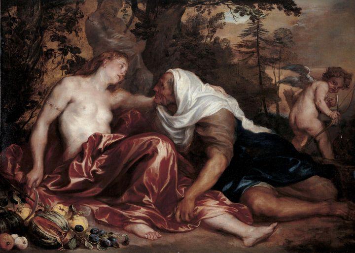 Anthony van Dyck~Vertumnus and Pomon - Old master image