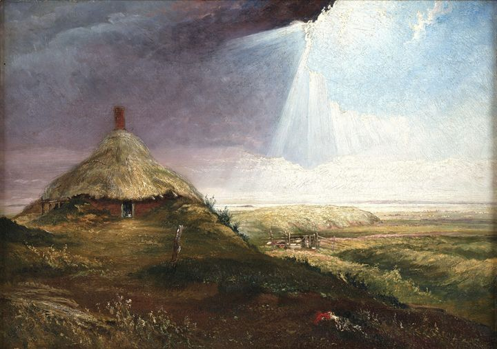 Baines, Henry~Hut at Gray's Coalyard - Old master image