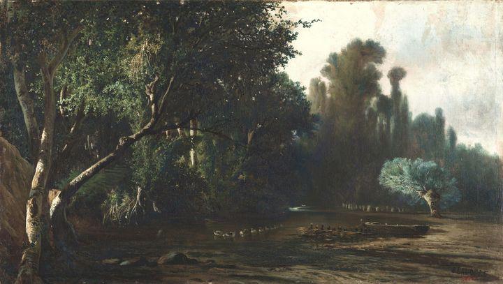 Baldomer Galofre i Giménez~Landscape - Old master image