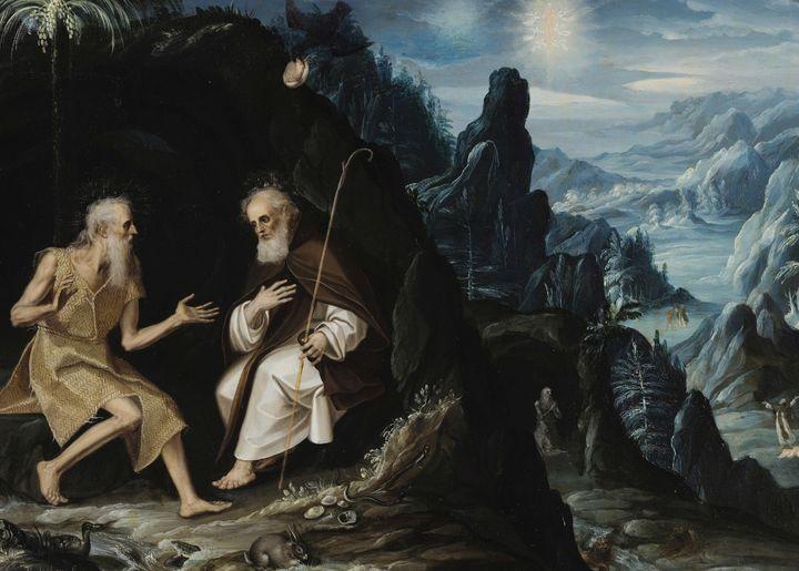Baltazar de Echave Ibia~The Hermits, - Old master image