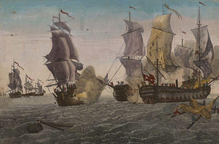 Balthasar Friedrich Leizelt~Combat M - Old master image