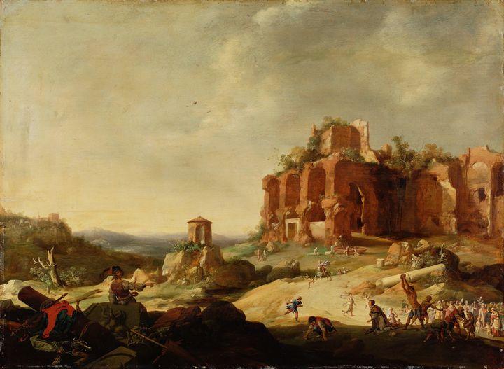 Bartholomeus Breenbergh~The Stoning - Old master image