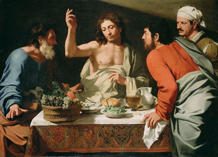 Bartolomeo Cavarozzi~The Supper at E - Old master image