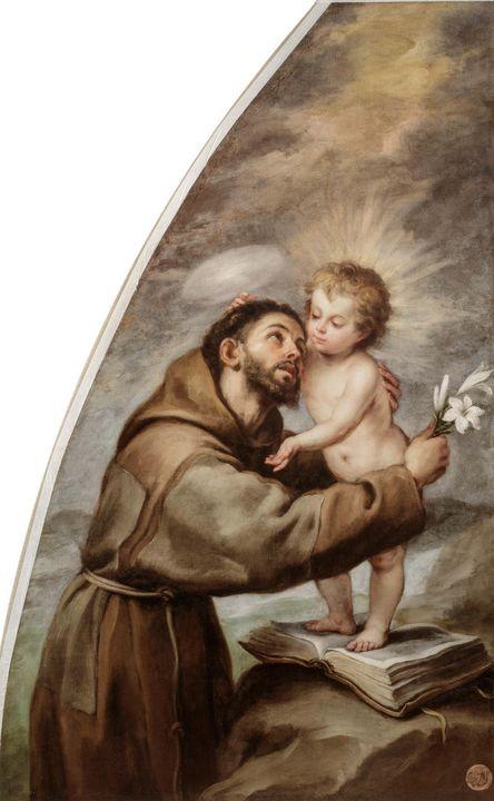 Bartolomé Esteban Murillo~Saint Anth - Old master image