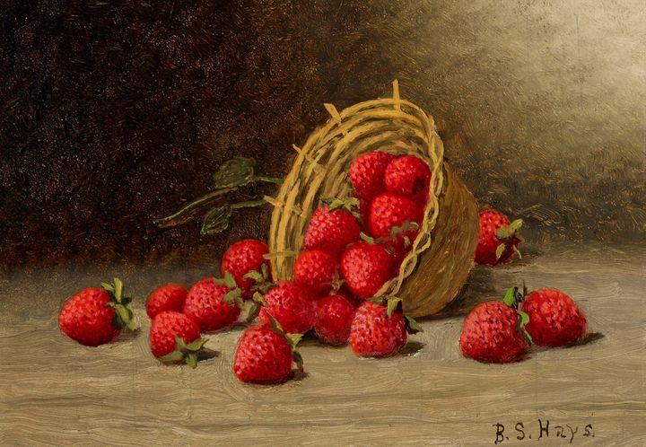 Barton S. Hays~Strawberries - Old master image