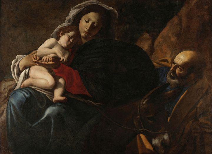 Battistello Caracciolo~Riposo durant - Old master image