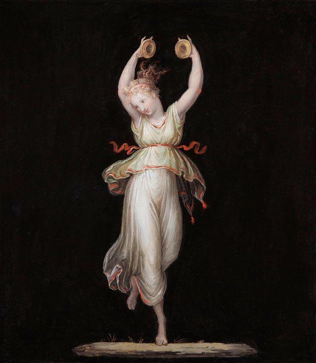 Antonio Canova~Dancer with cymbals - - Old master image