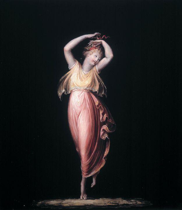 Antonio Canova~Dancing girl with her - Old master image