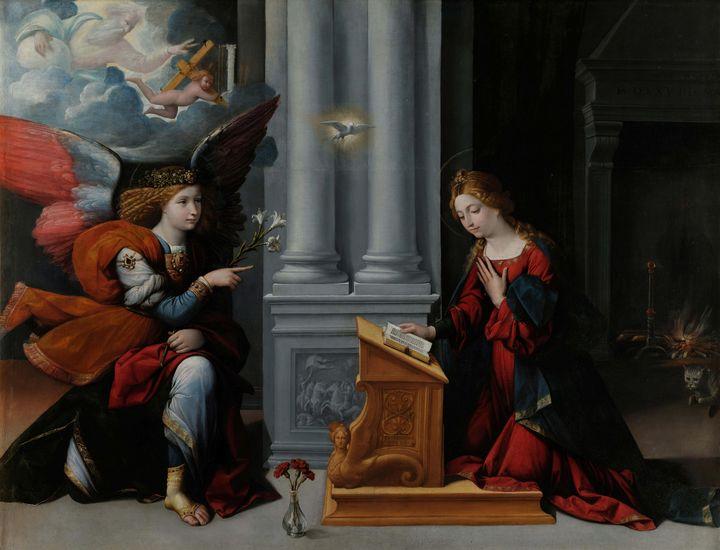 Benvenuto Tisi~Annunciation - Old master image