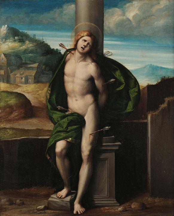 Benvenuto Tisi~St. Sebastian - Old master image