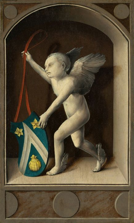 Bernard van Orley~Putto with Arms of - Old master image
