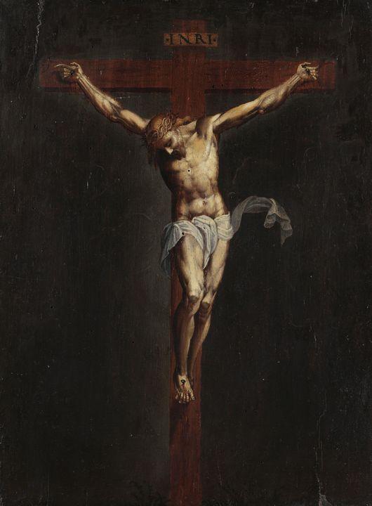 Bernardino Campi~Crucified Christ - Old master image