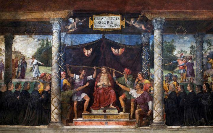 Bernardino Luini~Christ Crowned with - Old master image