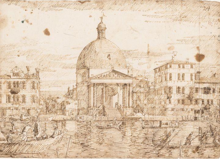Bernardo Bellotto~San Simeone Piccol - Old master image