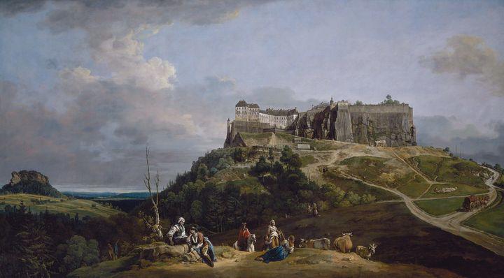 Bernardo Bellotto~The Fortress of Kö - Old master image