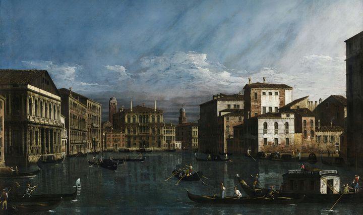 Bernardo Bellotto~The Grand Canal, V - Old master image