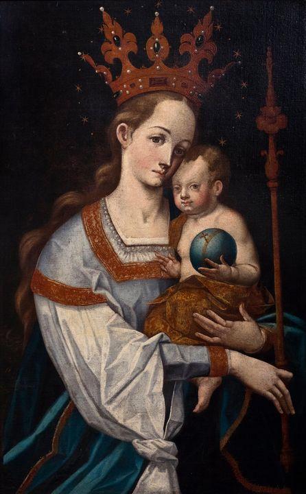 Bernardo Bitti~Virgin with Scepter - Old master image