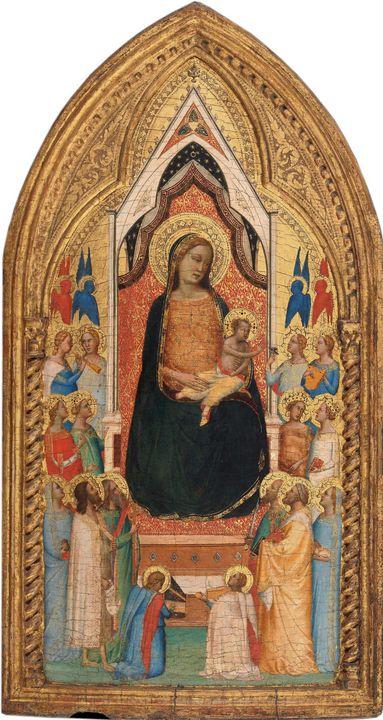 Bernardo Daddi~Madonna and Child wit - Old master image