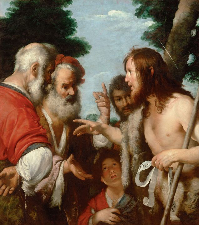Bernardo Strozzi~The Sermon of St. J - Old master image