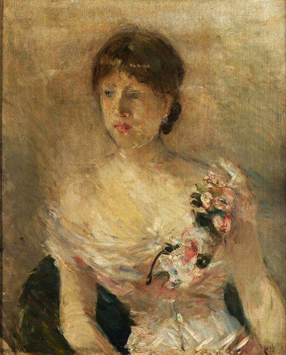 Berthe Morisot~Ritratto di signora - Old master image