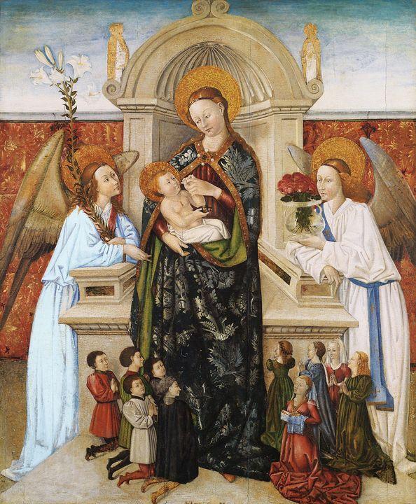 Berthomeu Baró~Virgin and Child, Ang - Old master image