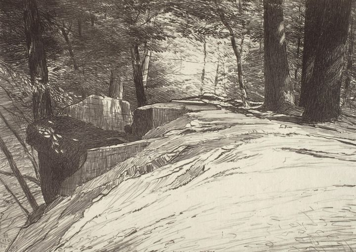 Bolton Brown~Rocks and Trees - Old master image