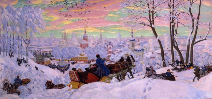 Boris Kustodiev~Shrovetide - Old master image