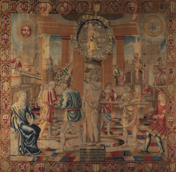 Bramantino~September - Old master image