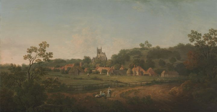 Arthur Nelson~A Distant View of Hyth - Old master image