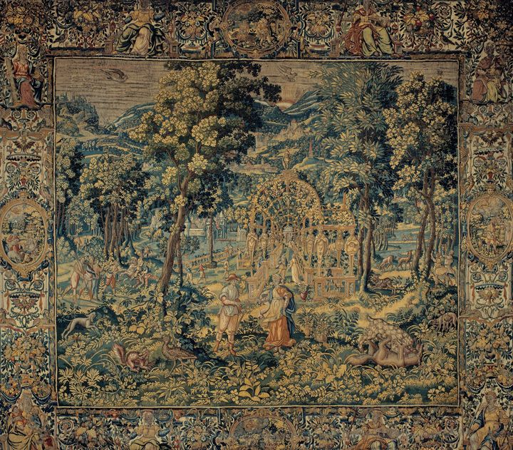 Brussels Manufactory~Vertumnus and P - Old master image