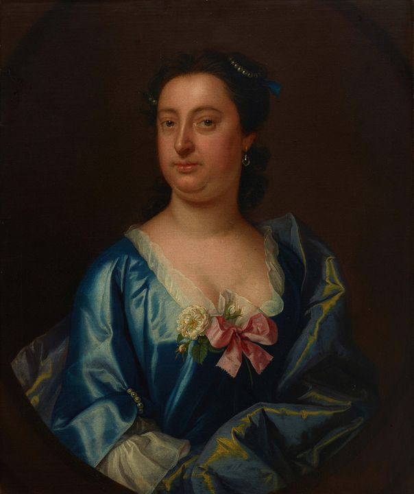 c. 1705–1750~Portrait of a Lady, Pos - Old master image