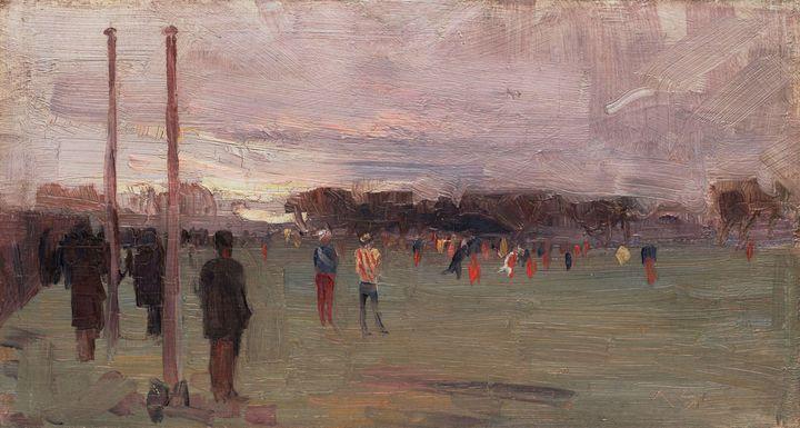 Arthur Streeton~The national game - Old master image