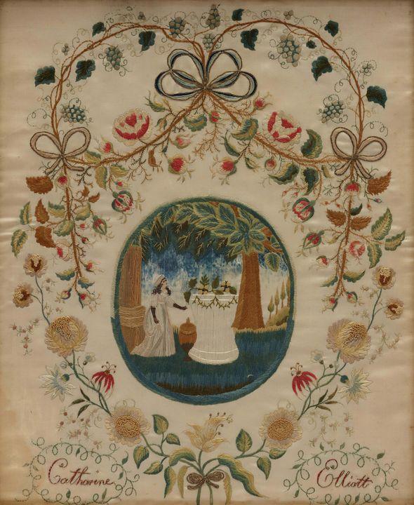 c. 1810~Catharine Elliott Memorial P - Old master image