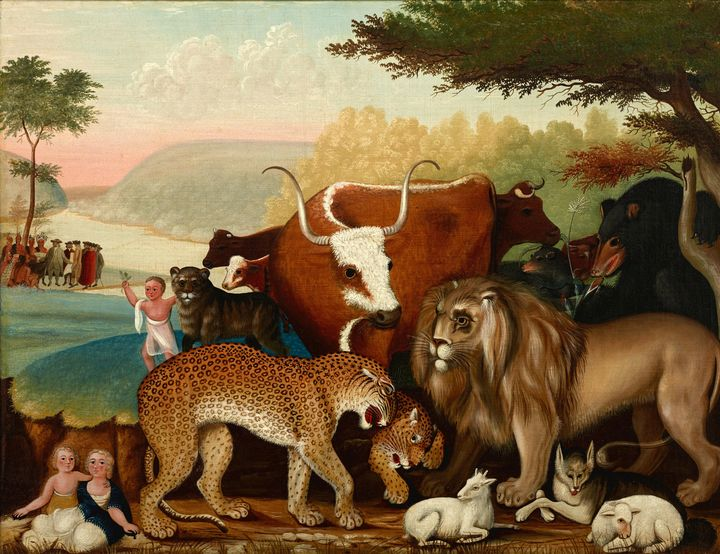 c. 1846–1847~The Peaceable Kingdom - Old master image