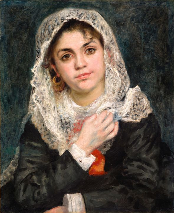 c. 1872~Lise in a White Shawl - Old master image