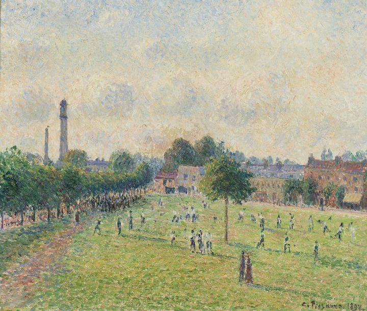 Camille Pissarro~Kew Green - Old master image