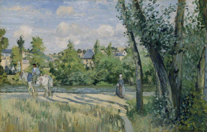 Camille Pissarro~Sunlight on the Roa - Old master image